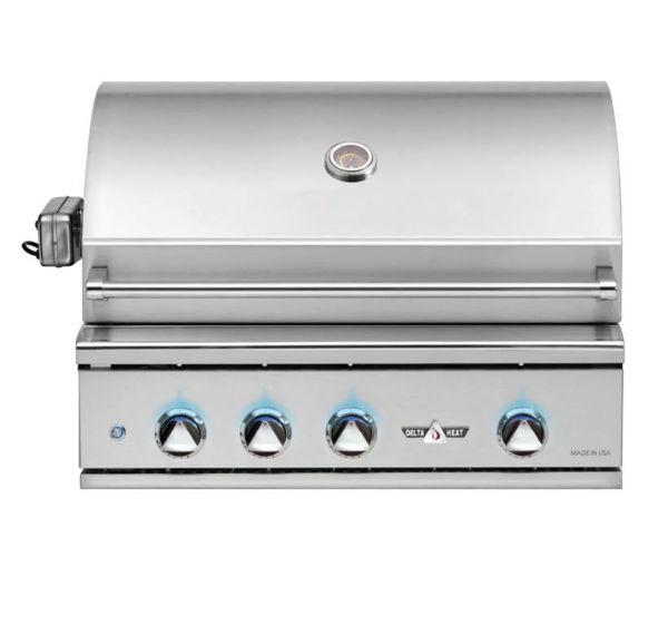 "Delta Heat 32"" Liquid Propane Grill rotisserie and sear burner"