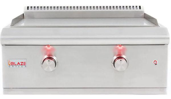 Blaze LTE Built-in Griddle w/ Lights - Natural Gas