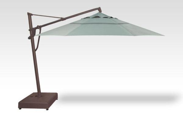 AKZ Plus Patio Umbrella, bronze base, spa fabric