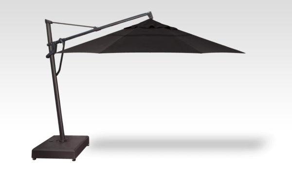 13' AKZP Plus Cantilever, Black Frame, Black Fabric
