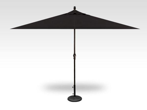 8x11 rectangle patio umbrella, black frame, black canopy