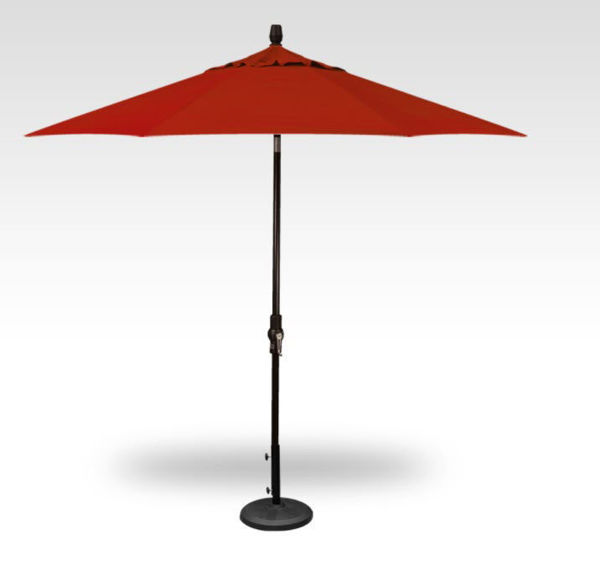 Picture of 9' Collar Tilt - Black Frame, Red Canopy