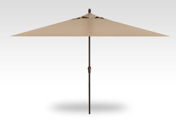 8x11 rectangle patio umbrella, bronze frame, sand canopy