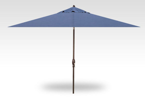 8x10 rectangle auto-tilt patio umbrella, bronze frame, Haze canopy