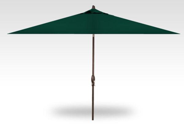 8x10 rectangle auto-tilt patio umbrella, bronze frame, forest green canopy
