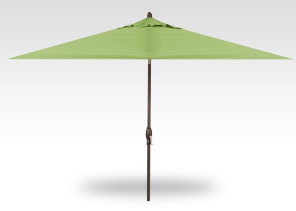 8x10 rectangle auto-tilt patio umbrella, Bronze frame, Kiwi canopy