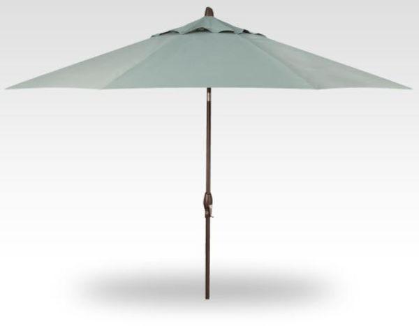 9' Collar Tilt patio umbrella, Anthracite Frame, Silver Canopy