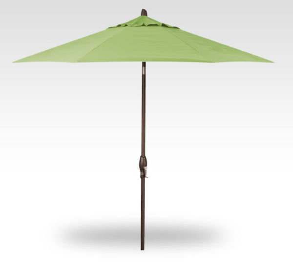 11' Auto Tilt Patio Umbrella, Bronze Frame, Kiwi Canopy