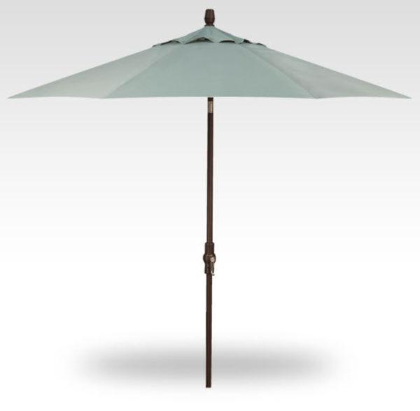 9' Collar Tilt patio umbrella, Bronze Frame, Spa Canopy