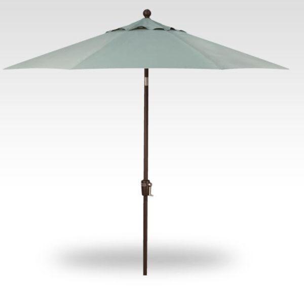9' Push Button Tilt Patio Umbrella, Bronze Frame, Spa Canopy