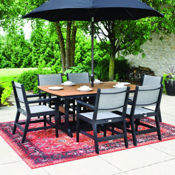 Mayhew Sling Dining set includes a table and 6 chairs