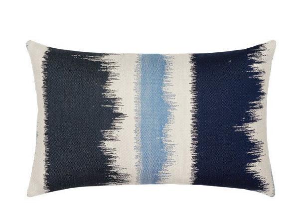 """Elaine Smith Outdoor Pillow - 12""""x20"""" Midnight Murmur Lumbar"""