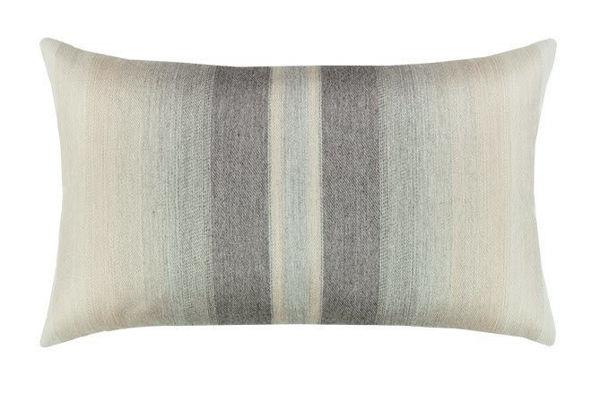 """Elaine Smith Outdoor Pillow - 12""""x20"""" Ombre Grigio"""