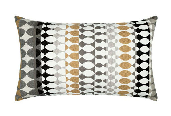 "Elaine Smith Outdoor Pillow - 12""x20"" Modern Oval Dune"