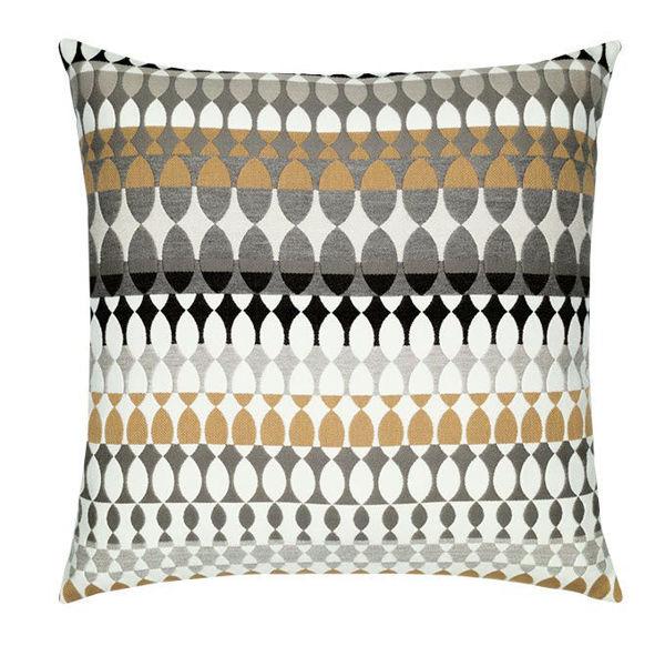 "Elaine Smith Outdoor Pillow - 20""x20"" Modern Oval Dune"
