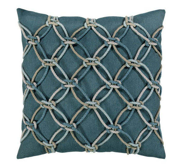 "Elaine Smith Outdoor Pillow - 20""x20"" Lagoon Rope"