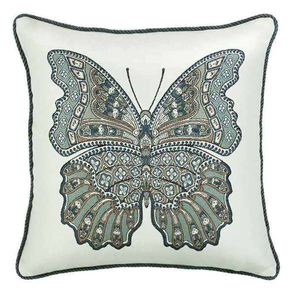 "Elaine Smith Outdoor Pillow - 20""x20"" Mariposa Lagoon Corded"