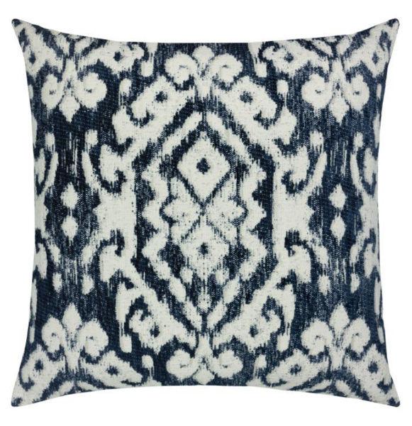 "Elaine Smith Outdoor Pillow - 20""x20"" Bakhmal Indigo"