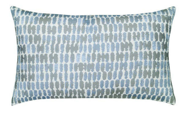 "Elaine Smith Outdoor Pillow - 12""x20"" Thumbprint Cloud Lumbar"