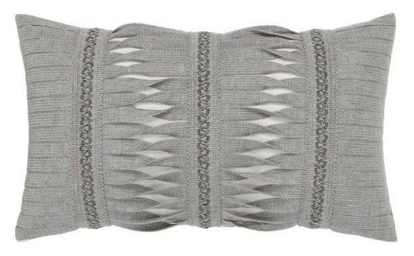 "Elaine Smith Outdoor Pillow - 12""x20"" Gladiator Granite Lumbar"