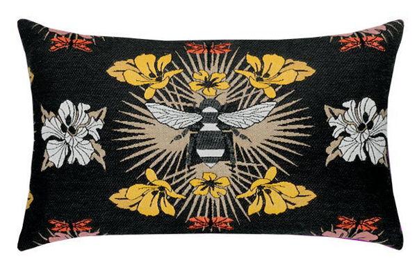 "Elaine Smith Outdoor Pillow - 12""x20"" Honey Bee Lumbar"