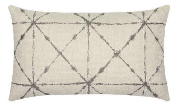 """Elaine Smith Outdoor Pillow - 12""""x20"""" Trilogy Taupe Lumbar"""