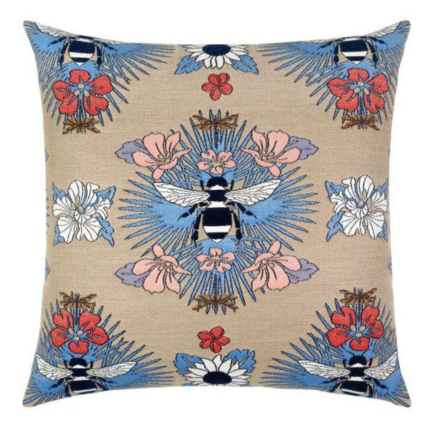 """Elaine Smith Outdoor Pillow - 20""""x20"""" Tropical Bee Capri"""