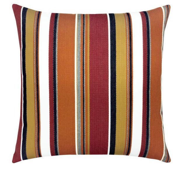"""Elaine Smith Outdoor Pillow - 20""""x20"""" Napoli Stripe"""