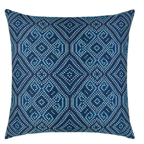 "Elaine Smith Outdoor Pillow - 20""x20"" Midnight Tile"