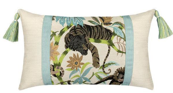 "Elaine Smith Outdoor Pillow - 12""x20"" Monteverde Lumbar"