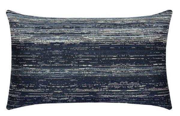 "Elaine Smith Outdoor Pillow - 12""x20"" Texture Indigo Lumbar"