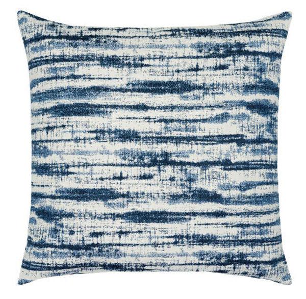 """Elaine Smith Outdoor Pillow - 20""""x20"""" Linear Indigo"""