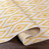 Surya Eagean Cream Saffron Outdoor Rug Curled