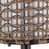 Surya Kio Woven Outdoor Lamp Detail Shade
