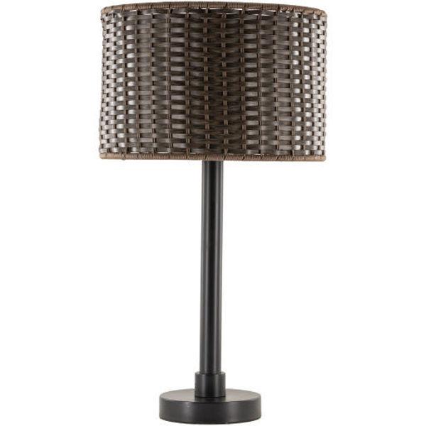Surya Montague Outdoor Lamp Woven Shade