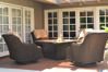 Monticello seating set with firetable