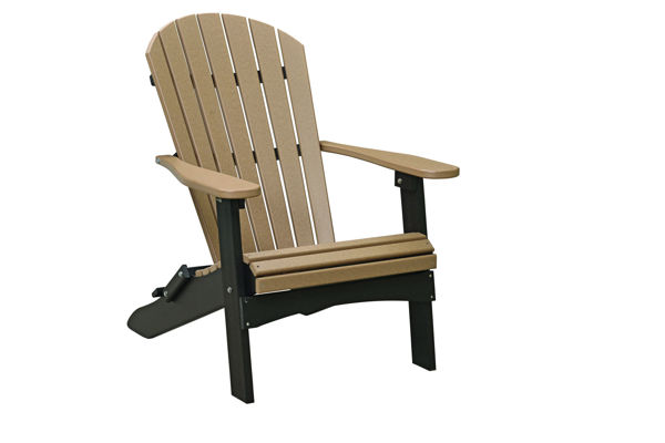 Comfo Folding Adirondack Chair, Weatherwood