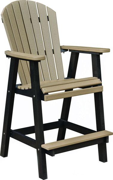 Berlin Gardens Comfo Back Bar Chair, Driftwood Gray on White