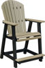 Comfo Back Counter Chair, Driftwood Gray on White