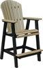 Berlin Gardens Comfo Back Bar Chair, weatherwood on chocolate