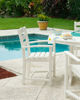 Polywood La Casa Cafe Dining Arm Chair by pool
