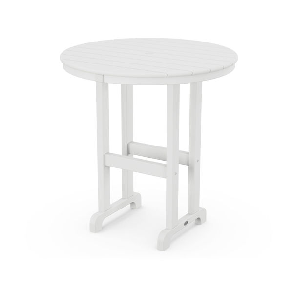 """Polywood 36"""" Round Counter Height Table White"""