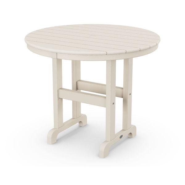 "Polywood 36"" Round Dining Table Sand"