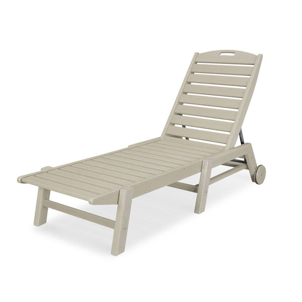 Polywood stackable chaise lounge Sand