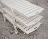 Polywood stackable chaise lounge Sand stacked