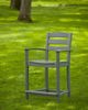 Polywood La Casa Cafe Counter Arm Chair Slate Gray Lifestyle