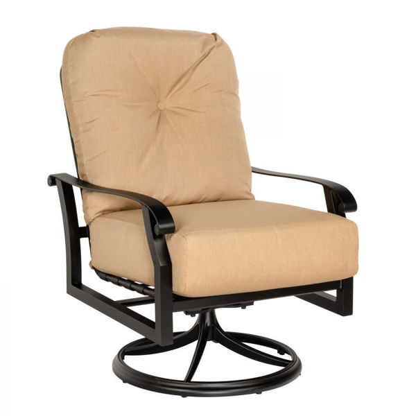 Picture of Woodard Cortland Cushion Swivel Rocking Lounge Chair