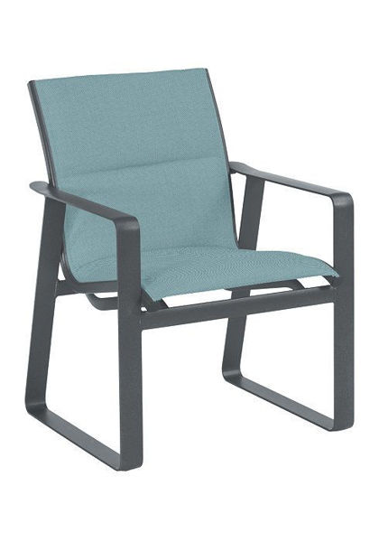Samba Padded Sling Dining Chair Graphite Aqua