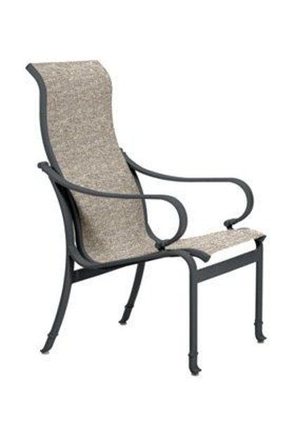 Tropitone Torino Sling High Back Dining Chair