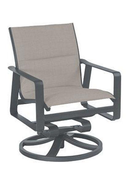 Samba Padded Sling Swivel Dining Chair